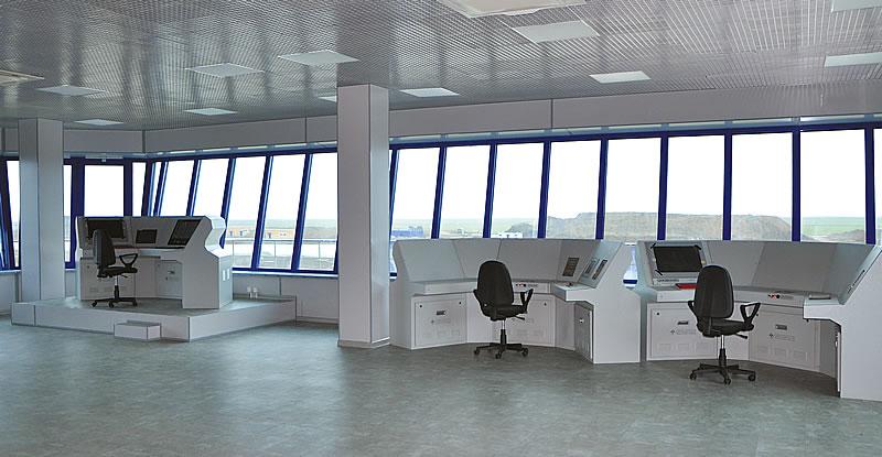 Центр управления полетами командно-диспетчерского пункта учебно-тренировочного комплекса