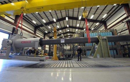 Прототип рельсовой электромагнитной пушки компании BAE Systems