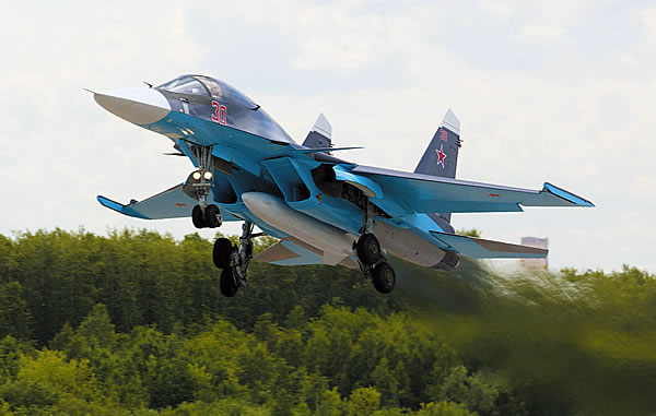 Су-34 на взлете