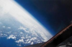 Вид из окна SR-71 с высоты в 22км