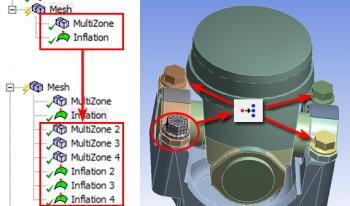 ANSYS 14.5 Копирование настроек построения сеток с помощью инструмента Object Generator