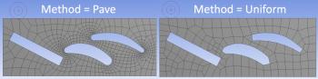 ANSYS 14.5 Два режима создания поверхностной сетки алгоритмом MultiZone