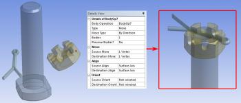 ANSYS 14.5 Применение операции Move/Align упрощает работу со сборками в ANSYS DesignModeler