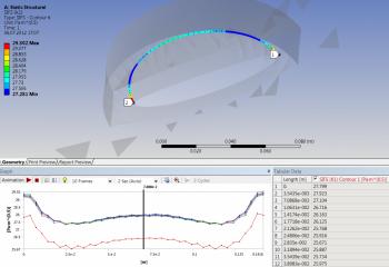 ANSYS 14.5 Автоматическое создание сетки для полуэллиптических трещин