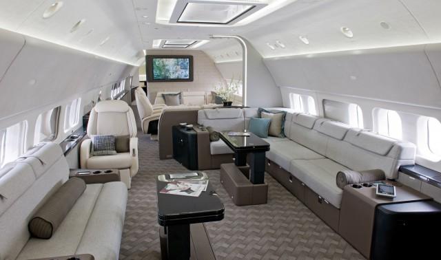 Интерьер самолета семейства Boeing 737 BBJ