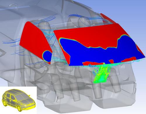 В рамках научной и инженерной деятельности в компании Volkswagen решают задачи механики и гидрогазодинамики с помощью программных продуктов ANSYS для выполнения, в том числе, расчетов по управлению климатом в салоне автомобиля, моделированию работы передних фар и двигателя.