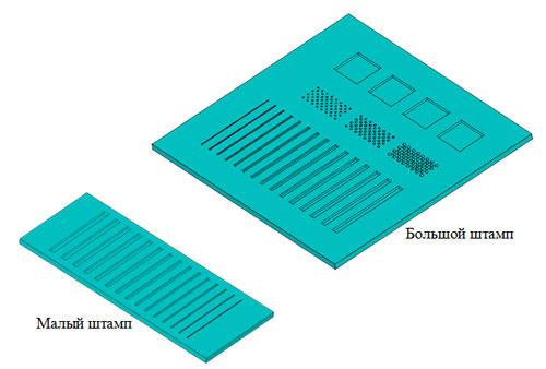 Рис.5 Профиль штампов